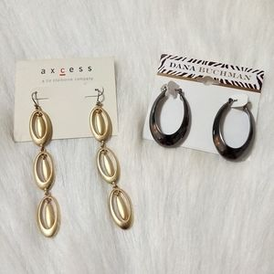 Earrings, 2 Pairs
